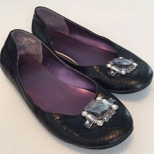 SM New York blinged flats shoes